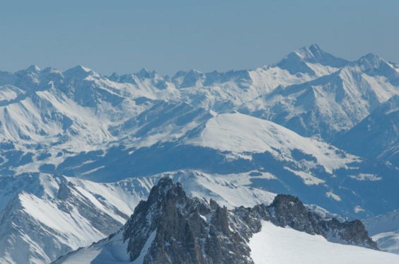 Le paysage est grandiose au Mont Blanc