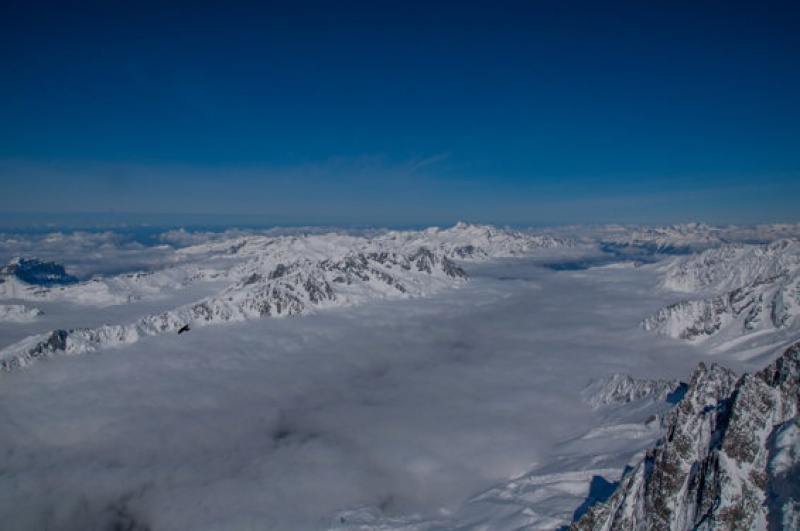 Panorama de dingue au Mont Blanc