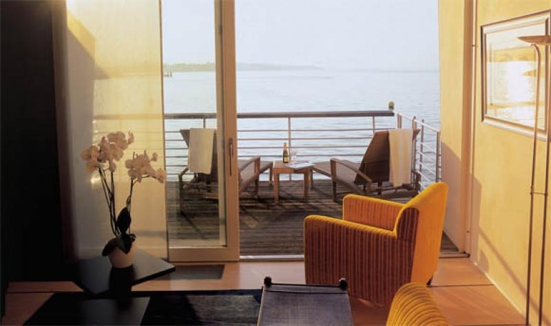 Terrasse - hôtel sur pilotis en Suisse