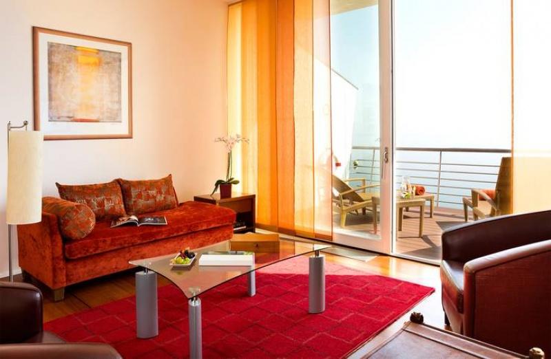 Salon - hôtel sur pilotis - Suisse