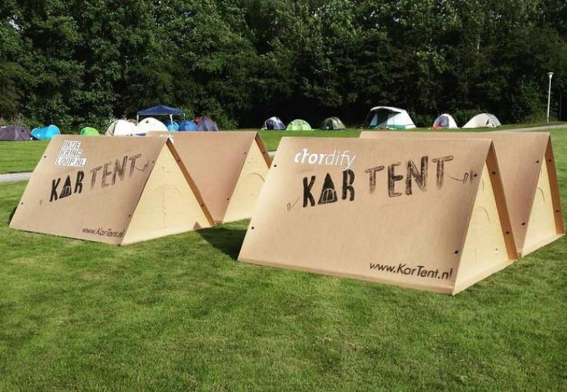 Hébergement insolite - la tente en carton Kartent