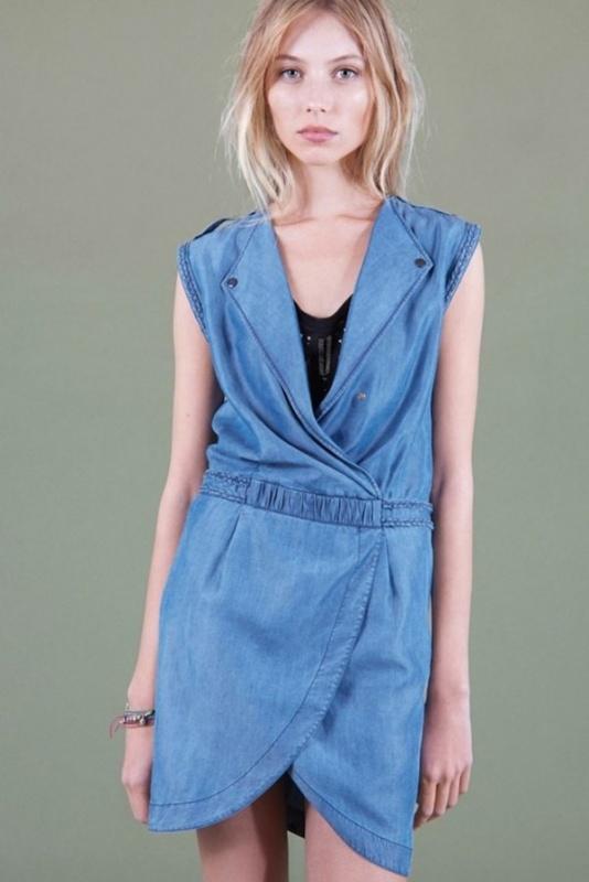 Robe jean bleue courte du Comptoir des Cotonniers