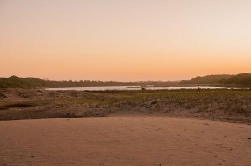 Marécages au delta à St Lucia en Afrique du sud