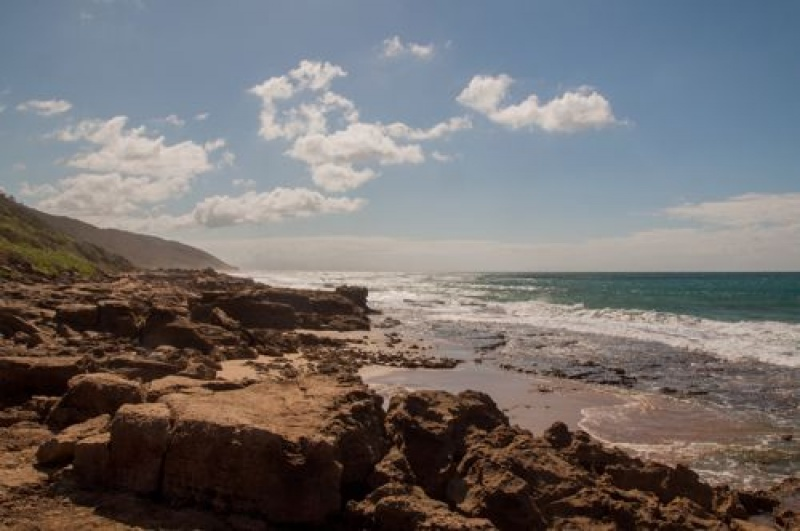 L'océan Indien à Ste Lucia en Afrique du Sud