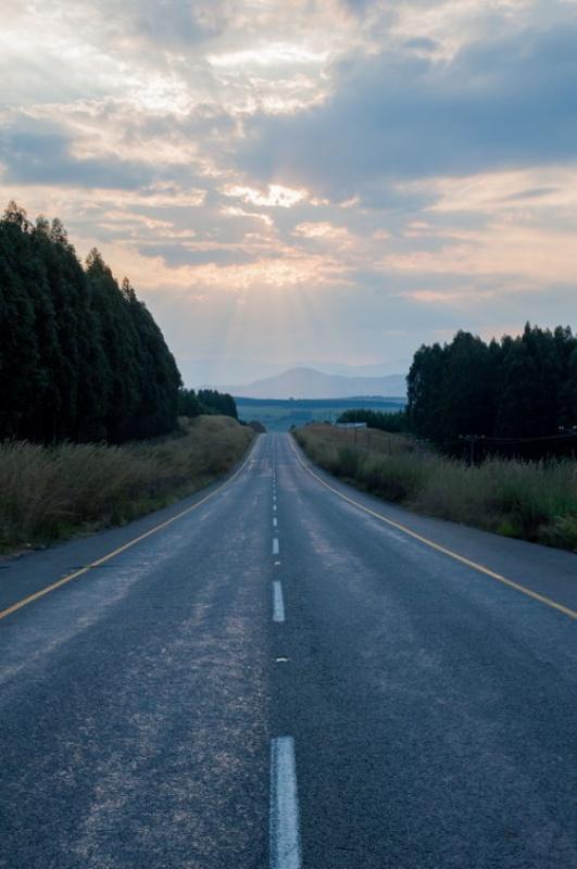La route - Drakensberg - Afrique du Sud