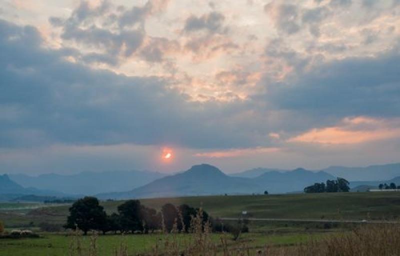 Coucher du soleil -Drakensberg - Afrique du Sud