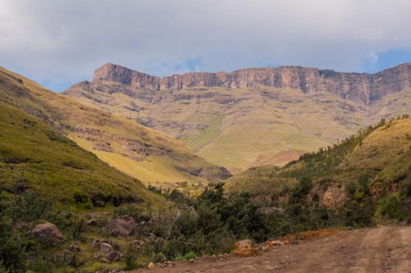 Allez hop, rendez-vous en haut entre le Lesotho et l'Afrique du Sud