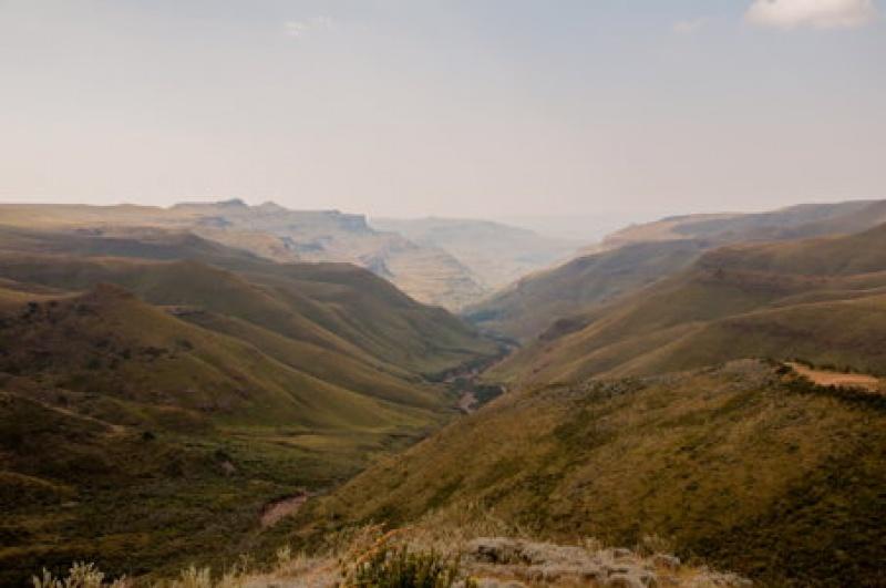 Route zigzague -Sani-Pass - Afrique du Sud