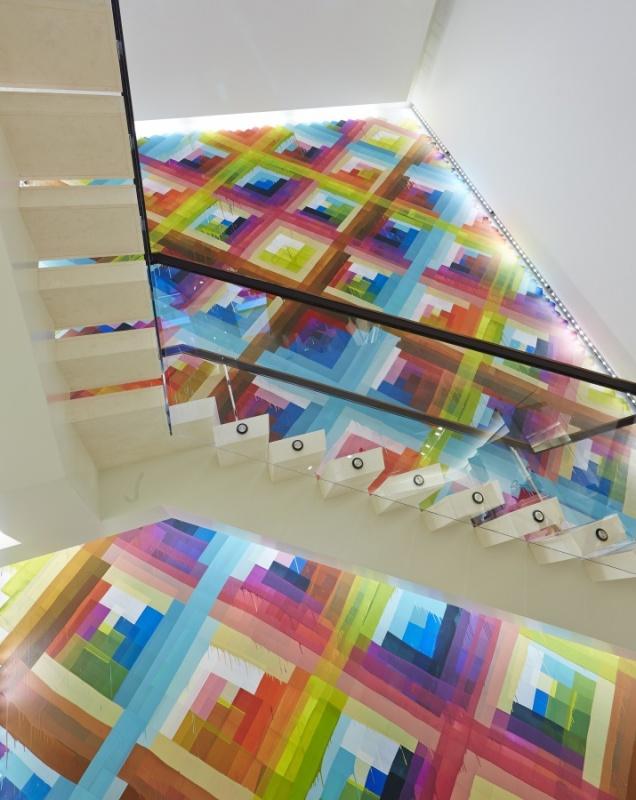 Escalier - couleur - Eric Carlson - Carbonale