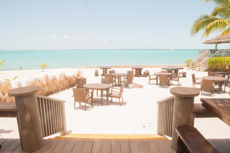 Le restaurant d'Eleuthéra aux Bahamas