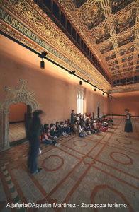 Salle couverte au palais de la Aljaferia à Saragosse