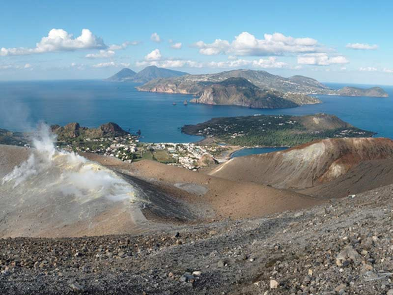 En haut - volcan