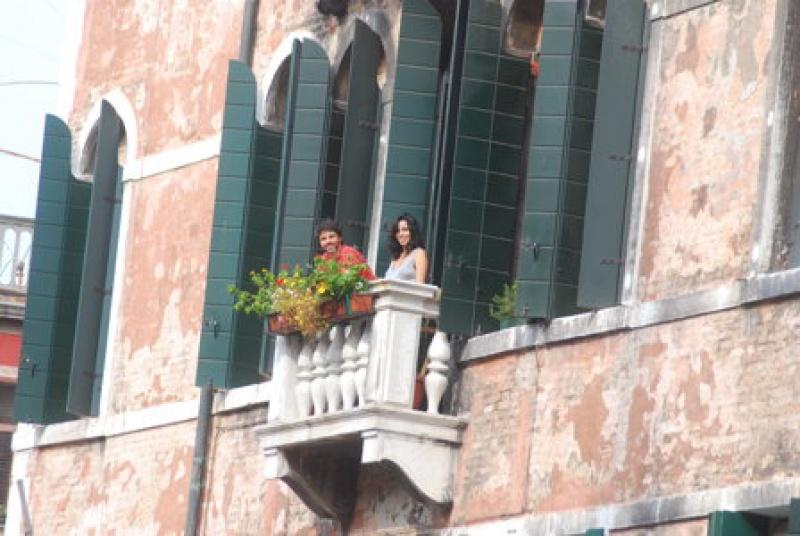 Admirez la lagune du haut d'un palais à Venise