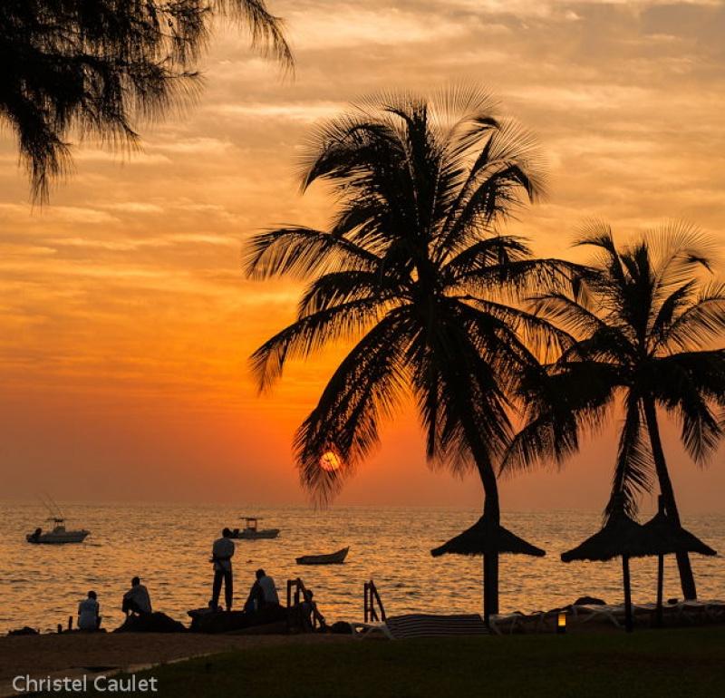 Coucher de soleil à Saly au Sénégal