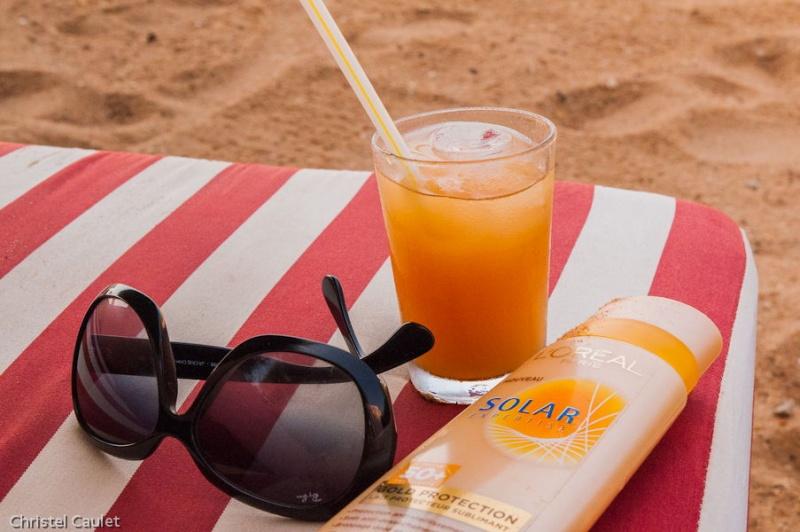 Cocktails au moment de l'apéro au club Marmara au Sénégal