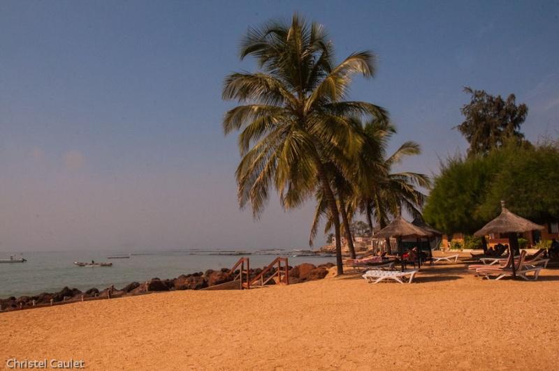 La plage du club Marmara à Saly au Sénégal