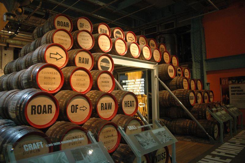 Les futs de Guinness - Guinness Storehouse - Dublin - Irlande