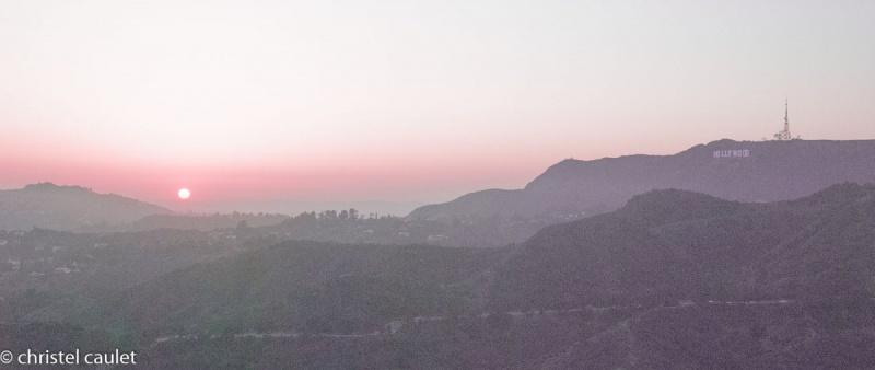 Coucher de soleil à Griffith Park à Los Angeles- road-trip USA