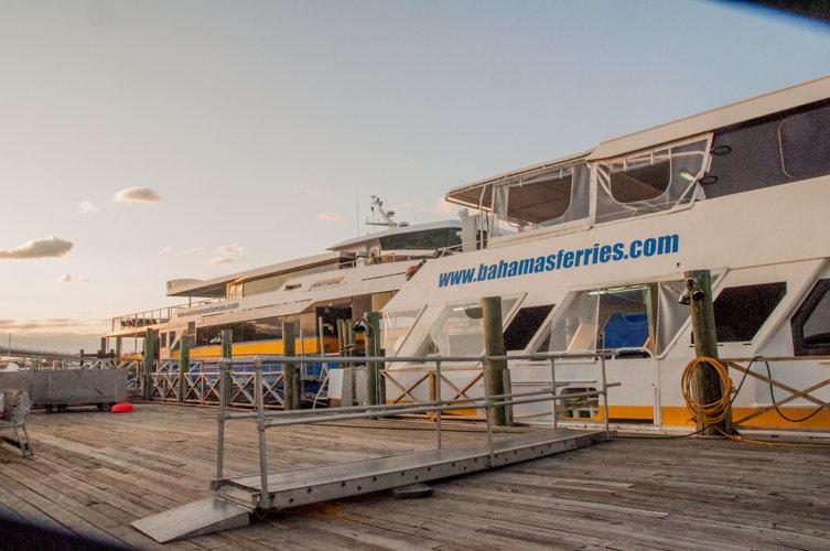 Arrivée en ferry - Harbour Island - Bahamas