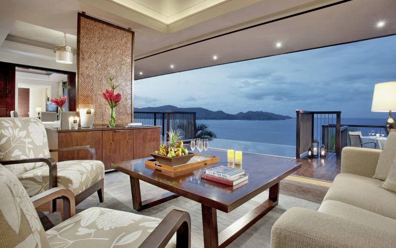 chambre d'hôtel du Raffle aux Seychelles