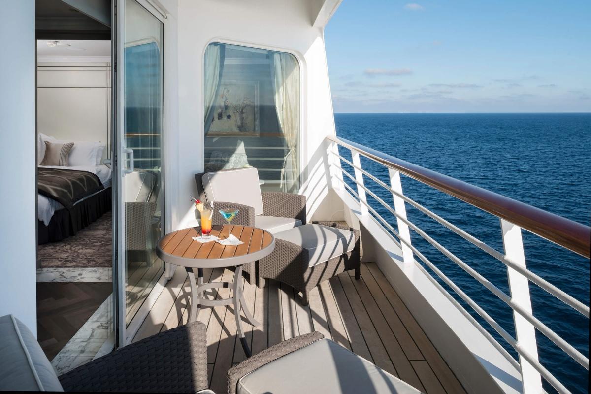 La terrasse - Croisière luxe dans les Caraïbes avec Crystal Cruises