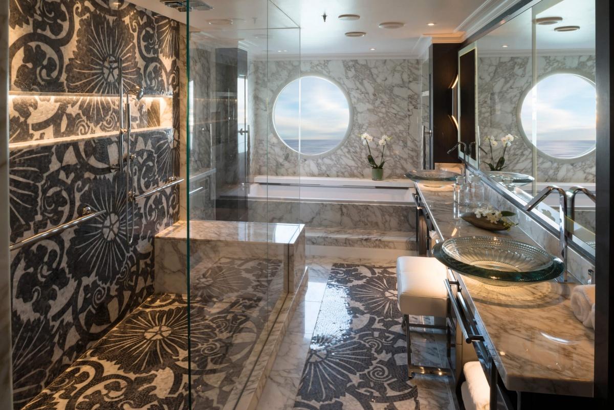 Salle de bain - Croisière luxe dans les Caraïbes avec Crystal Cruises