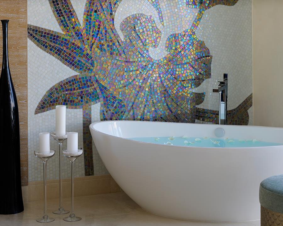 Les intérieurs du spa Guerlain à Dubai dans l'hôtel One and Only