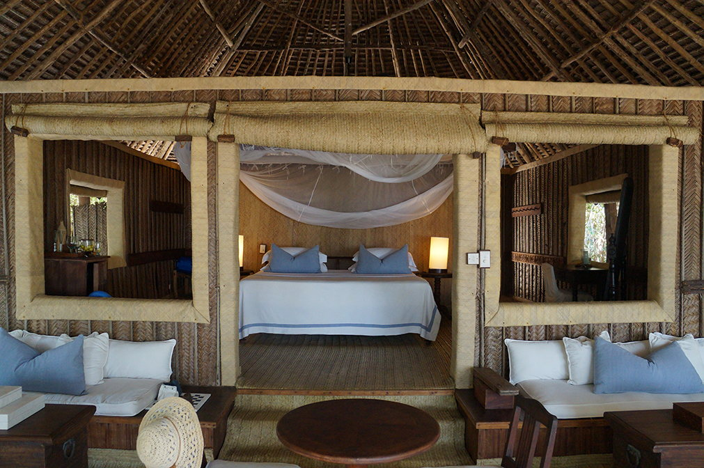 bungalow luxe au Mnemba Island Lodge