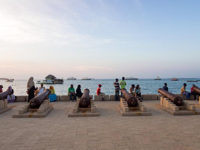 Voyage à Zanzibar Stone Town, sur le front de mer