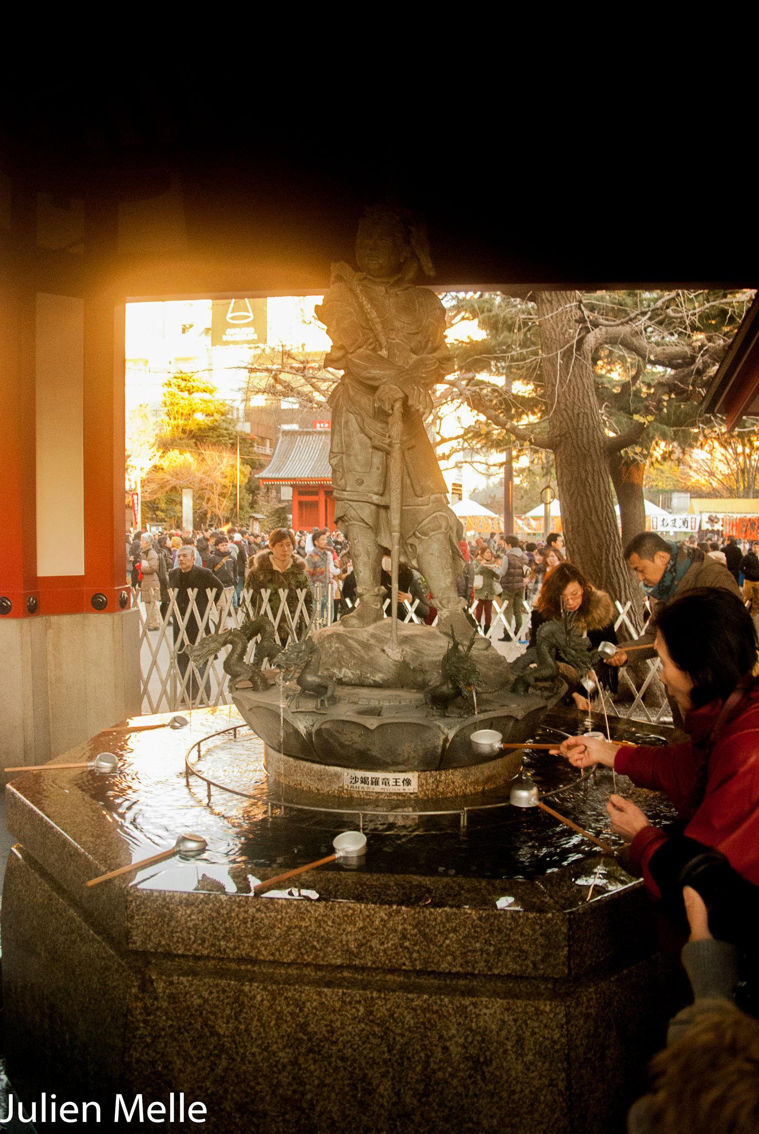 Les fontaines d'eau pour se purifier