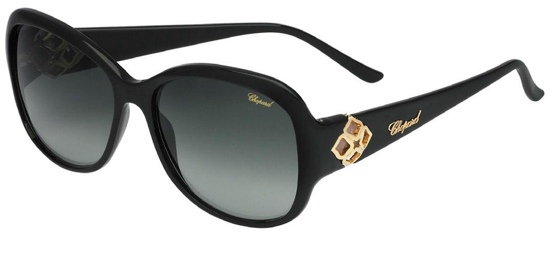 Modèle noir de lunette de soleil Chopard femme
