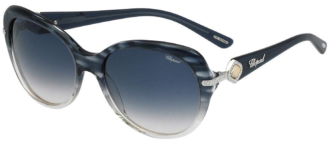 Modèle noir et blanc de lunette de soleil de Chopard