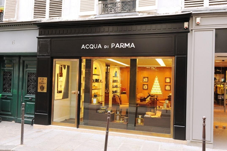 La façade de la boutique Acqua di Parma à Paris