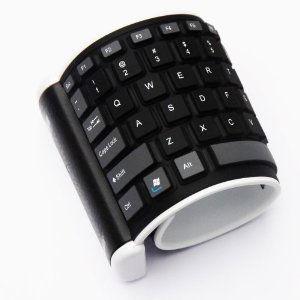 Facile à emporter, ce clavier pour ipad s'enroule et se déroule à votre convenance. On apprécie son utilisation facile et la souplesse des touches.