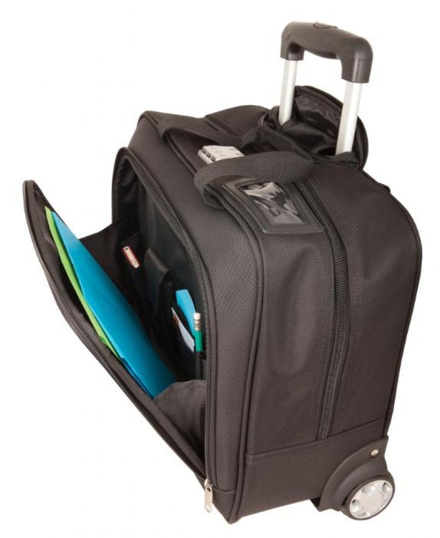Avis aux globe-trotters ultra connectés !URBAN FACTORY a imaginé un trolley sur roulettes, méthode « sac de Mary Poppins » contenant une housse amovible pour ordinateur portable de 15.6 '', des compartiments sécurisés, des poches et rangements à gogo... !