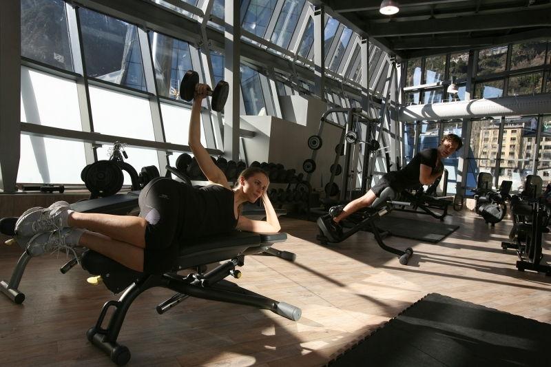 Dans la salle de fitness à Inuu en Andorre