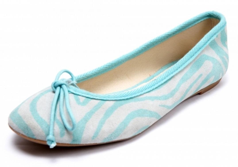 La slipper zébrée bleue