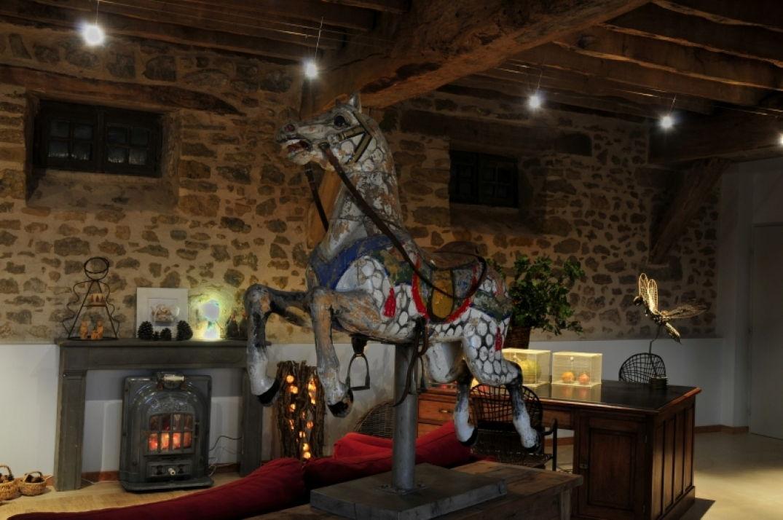 Déco Noël au mas de la Tourelle en Aveyron