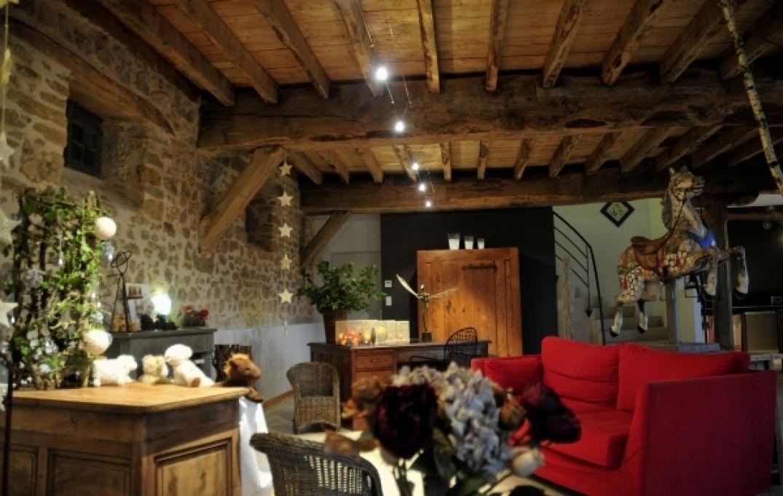 Déco avec éléments naturels en Aveyron au Mas de la Tourelle