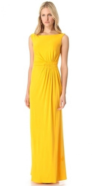 Robe jaune canari