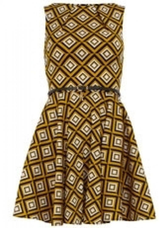 Robe design graphique jaune canari