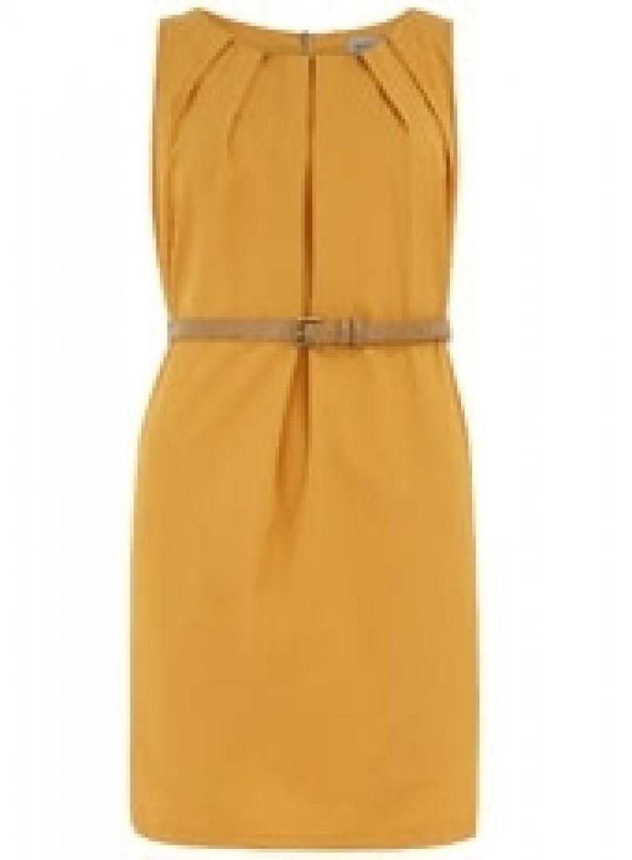 Robe droite jaune canari