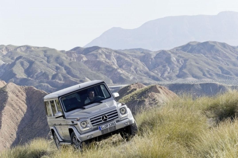 Le class G de Mercedes Benz dans un décor naturel