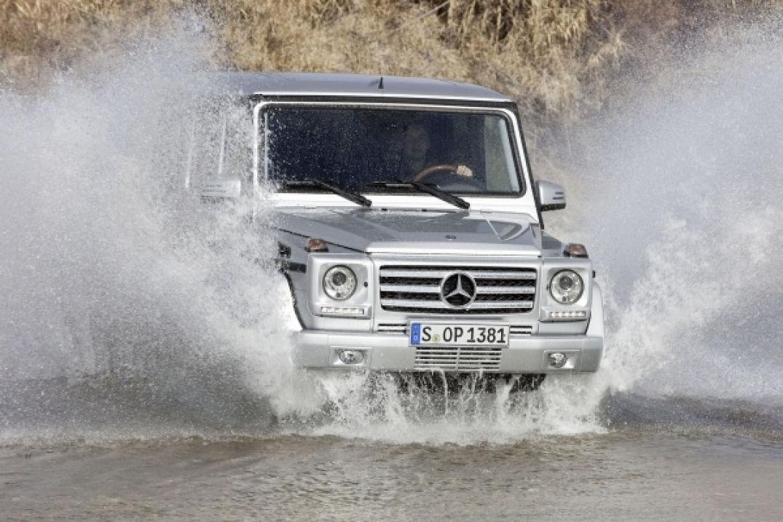 Affronter les éléments naturels avec le Class G de Mercedes Benz