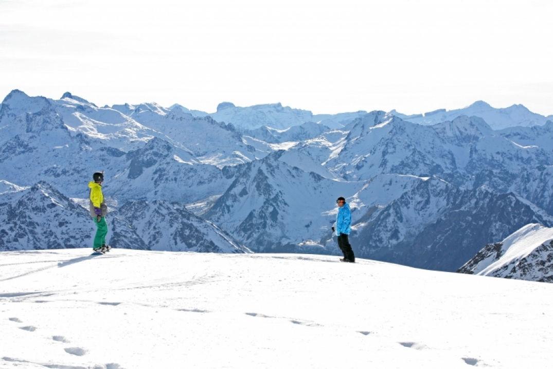 Une zone free ride dans les Pyrénées