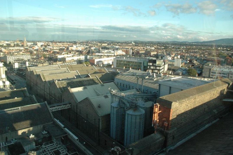 Vue panoramique depuis la Guinness Factory sur Dublin