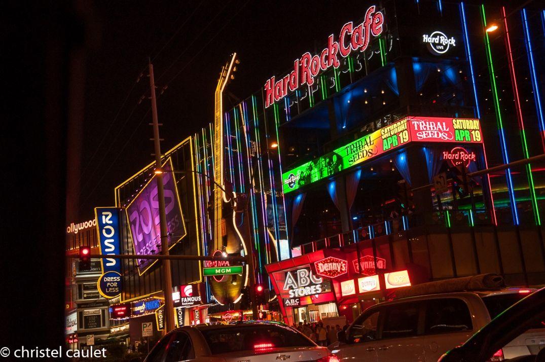Sur le strip à Las Vegas