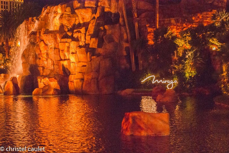 Les fontaines d'eau du Mirage à Las Vegas