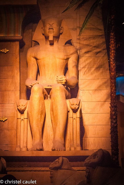 Les statues égyptiennes du Luxor - Las Vegas -