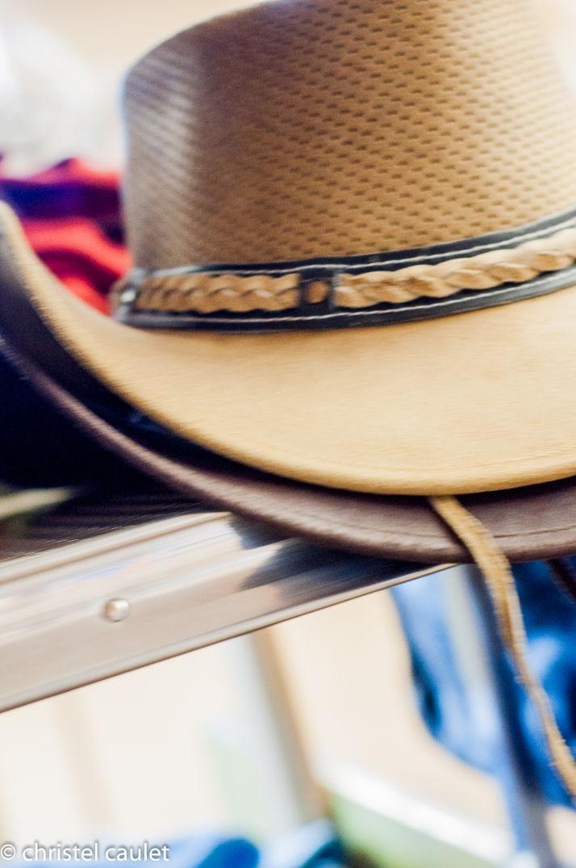 Un chapeau de cow-boy au Ranch Bauers